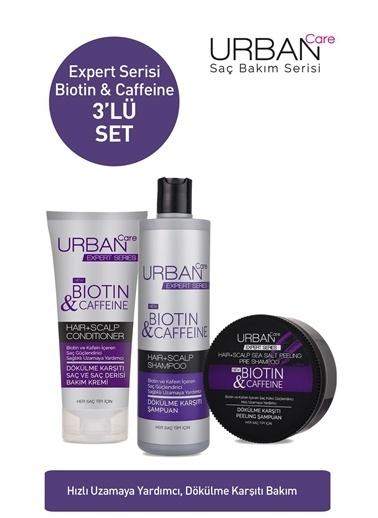 Urban Care Expert Biotin & Caffeine Şampuan & Peeling Şampuan & Krem  3'lü Avantajlı Set Renksiz